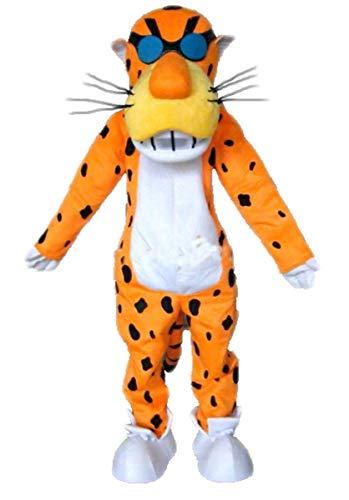 Adult Full Body Mascot Plush Chester Cheetah Costume Leopard Fancy Dress Halloween Suit
