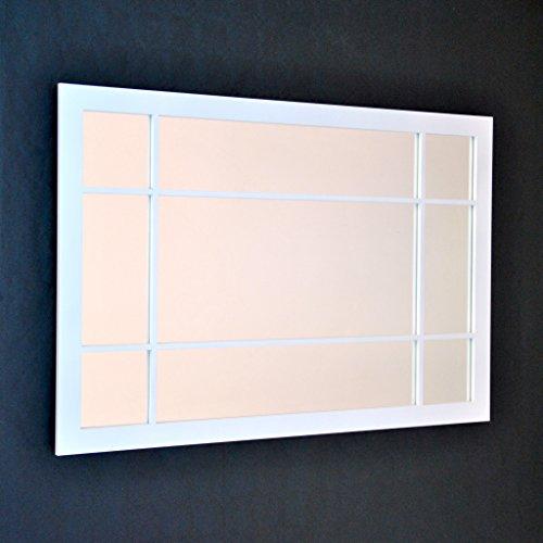 DECOHOGAR.SHOP Miroir Mural rectangulaire - Petite fenêtre - 47 x 70 cm - Laqué Noir
