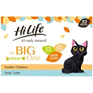 HILIFE it's only natural The Big One Kitten Mixed Complete Wet Cat Food Pouches 32 x 70g