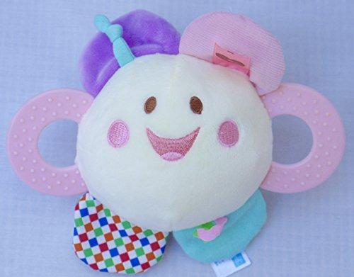 Kids Preferred Jingle Balls Label Loveys Plush Toy, Owl/Flower