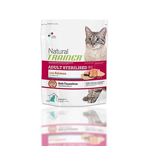 TRAINER Natürliche sterilisiertem 1,5kg Lachs - Katzen Trockenfutter Kroketten