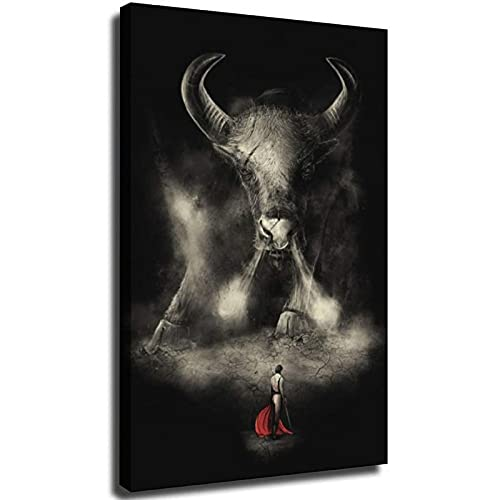 Arte de pared de torero español clásico de arte lienzo pintura torero HD cartel de lucha de toros arte dormitorio Unframe-style1 28 × 40 pulgadas (70 × 100 cm)