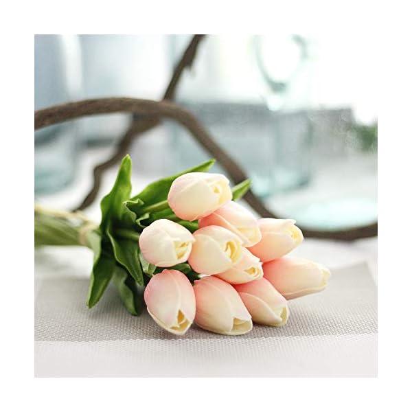 """EasyLife Tulipán artificial de 12.6 """", 20 piezas y 2 colores por juego, decoración para interiores, decoración de bodas…"""