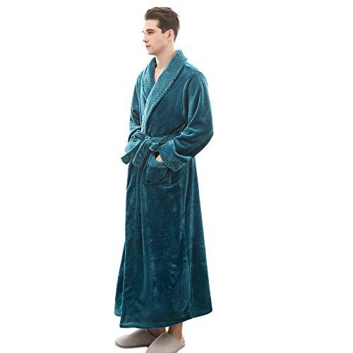 ELECTRI Peignoir de Bain,L'automne Et l'hiver épaississement Longue Peignoir Femme Homme Unisexe Couple Pyjama Kimono Robe de Chambre à Manches Longues Bathrobe Nightgown