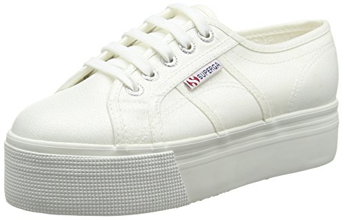Superga S009TC0, Scarpe da ginnastica con piattaforma Unisex, Bianco (Bianco), 36 EU