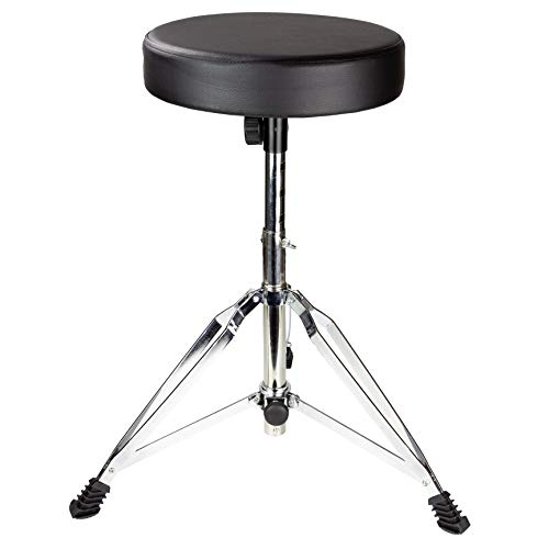 Drum Throne Rockjam ajustable tambor Taburete con asiento acolchado