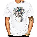 Casuales Camisas Hombre Básico Urbano Casual Color Animal Impresión Hombre Camiseta Verano Moderna Moda Shirt Regular Fit Cuello Redondo Transpirable Hombre Manga Corta J-10 XL