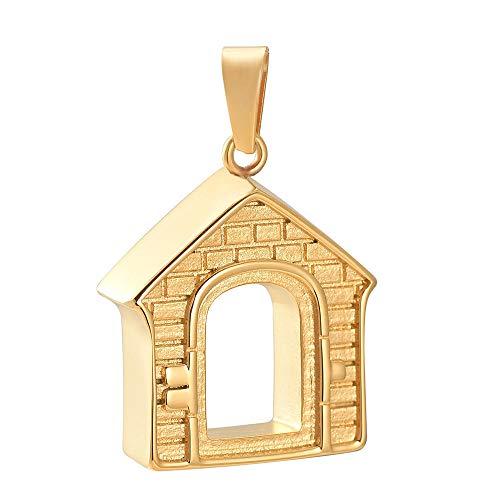 N/A' Cremación Colgante Colgante de cremación de Collar de urna Conmemorativa de Acero Inoxidable de diseño de Nueva casa para joyería de cremación de Cenizas humanas/Mascotas