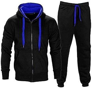 263c3d6ec9583 Love My Fashions® Survêtement pour Hommes Ensemble Cordon de Contraste  Toison Sweat à Capuche Top