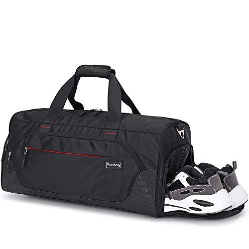 Plambag - Borsone da viaggio da 33 l, con scomparto separato asciutto e bagnato, scomparto per scarpe, borsa sportiva, borsa da fitness per uomini e donne