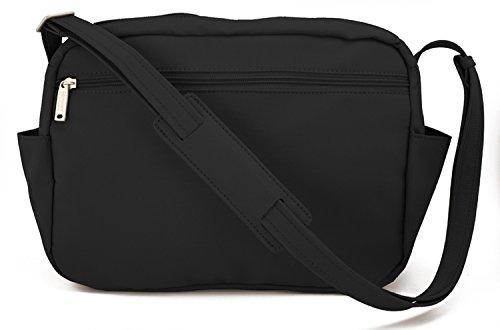 DayMakers Be Safe Bags Anti-Theft Large Travel Shoulder Bag, 9 Pocket Travel