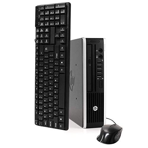 HP Elite 8300 Ultra Slim High Performance Business Desktop Computer, Intel Quad Core i7-3770s 3.1Ghz CPU, 8GB DDR3 RAM, 240GB SSD, DVD, VGA USB 3.0, Windows 10 Professional (Renewed)