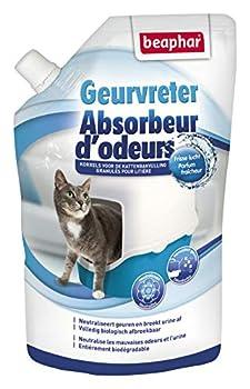 Beaphar - Absorbeur d'odeurs - Granulés concentrés pour litière pour chat - Neutralise les mauvaises odeurs - Laisse un agréable parfum (Fraîcheur) - 400 g = jusqu'à 3 mois d'utilisation