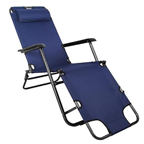 YSXFC ligstoelen armleuning opklapbare lounge stoel bureaustoel rugleuning multifunctionele stalen buis duurzaam antislip vrije tijd stoel