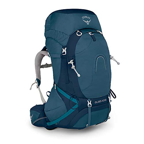 Osprey Packs Pack Aura Ag 65 Backpack, Challenge Blue, X-Small