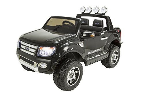 RunRunToys RunRunToys-4005 Coche 4x4 Ford Ranger 12V Negro Licenciado Biplaza con Apertura...