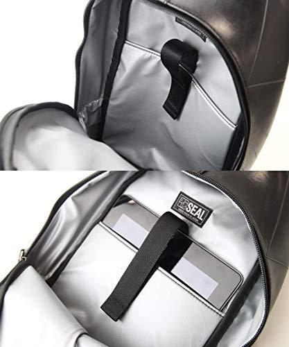 SEALデザイナーズボディバッグ防水ワンショルダー汚れを防ぐ世界に一つタイヤチューブ再利用高級感メンズPS-056BW