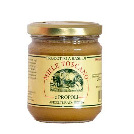 Miele e Propoli 500 gr- Miele Toscano - Miele Naturale con Propoli Puro -Alimento completo,...