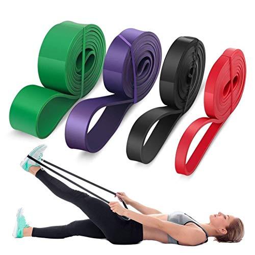 YUJIAN Banda de resistencia para ejercicio, banda elástica para entrenamiento, pilates, fitness, dominadas, goma, resistente, para entrenamiento, expansor, unisex, bandas elásticas con puerta