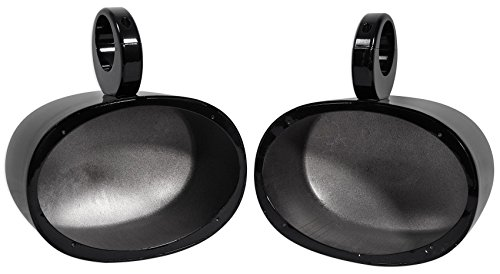 Pair Rockville MAC69B 6x9 Black Aluminum Wakeboard Tower Speaker Pod Enclosures