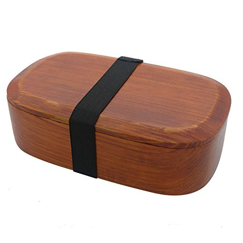 Ecloud Shop® Caja de Madera de Bento, Almuerzo de Madera japonés Caja de Madera de Bento Envase de Madera para Alimentos