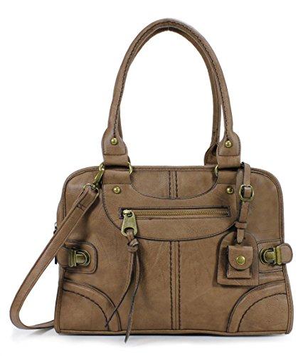 Scarleton Large Satchel, Shoulder Bag, Handbag for Women, Crossbody H106808 -Beige Brown
