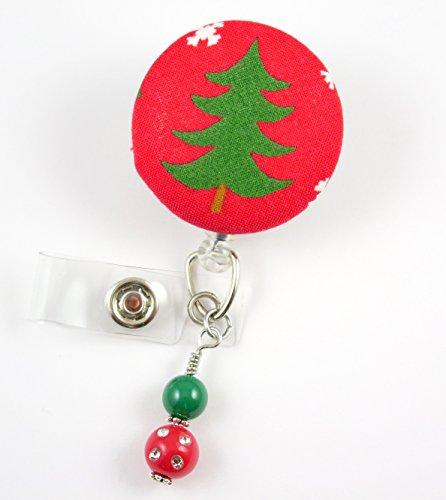 Christmas Tree Green - Nurse Badge Reel - Retractable ID Badge Holder - Nurse Badge - Badge Clip - Badge Reels - Pediatric - RN - Name Badge Holder