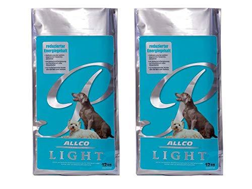 2er Pack Allco Premium Light 12kg Diät - Hundefutter für Hunde mit Übergewicht