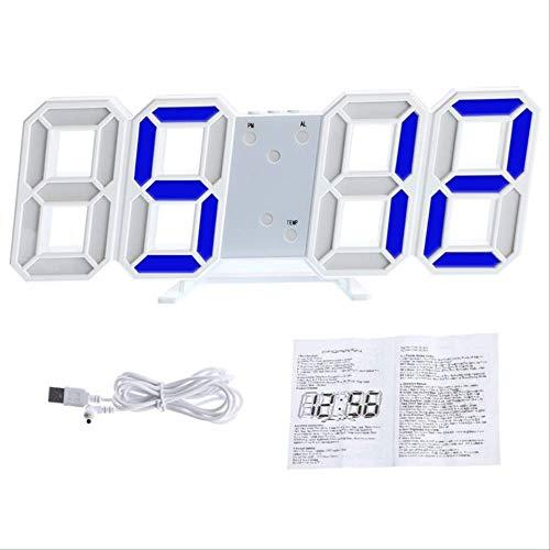 a50 Reloj Digital Pared 3D Nightlight Display Table Relojes De Escritorio Despertador Desde La Sala De Estar 3D Reloj De Pared Digital Grande con Led 3