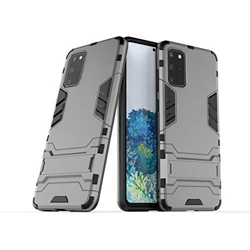 MaiJin Funda para Samsung Galaxy S20 Plus/Galaxy S20 Plus 5G (6,7 Pulgadas) 2 en 1 Híbrida Rugged Armor Case Choque Absorción Protección Dual Layer Bumper Carcasa con Pata de Cabra (Gris)