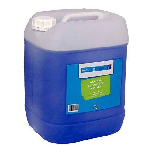 POOLSBEST® 20 Kg Algenverhüter extra hochkonzentriert & schaumfrei Algenmittel fürs Schwimmbad - sorgt für klares Wasser