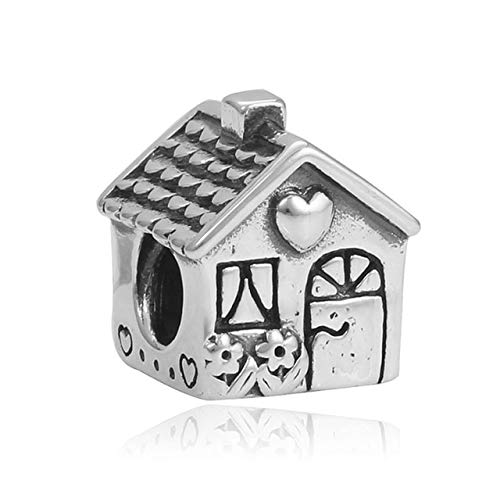 Ochoos 1pcs French Bulldog bijoux sieraden bracciale House Charms fit Pandora Bracelet Silver 925 Original perfumes Mujer Jewelry Beads - (Color: Silver)