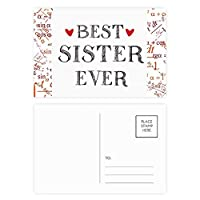 これまでに最高の姉妹引用ハート 公式ポストカードセットサンクスカード郵送側20個
