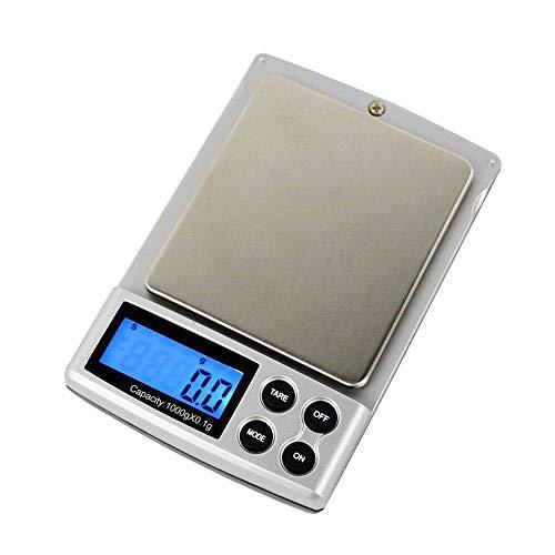 Báscula electrónica de joyería con alta precisión y gran rango 500g / 0.01g escala de gramo 1000g / 0.1g cocina 500g / 0.1g