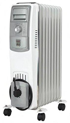Jocel JI07 013309 Radiador de aceite, 1500 W, Blanco y gris