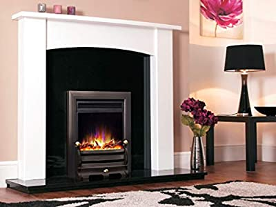 """New Designer Celsi Fire - Electriflame XD Hearth Mounted Electric Fire 16"""" Daisy Black"""