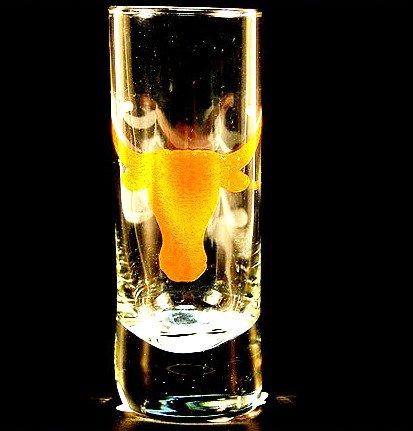 NCAA Lizenzprodukt Cordial Logo Hype Glas Schnapsglas (2Oz) Schule Logo auf 2Oz Glas Shot Glas (Texas Longhorns)