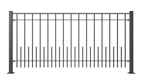 ELEO Geländer Perugia I Balkongeländer aus massivem Schmiedeeisen I Länge: 96 cm I Pulverbeschichtet I Geländer Balkon stabil langlebig & witterungsbeständig