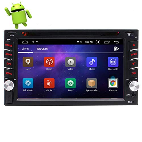 EINCAR Double DIN Car Stereo La última Radio de Coche Android con Bluetooth Pantalla táctil capacitiva de 6.2 Pulgadas Reproductor de DVD de Cuatro núcleos Soporte Navegación GPS WiFi USB/SD