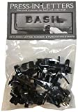 Magnetic Poetry Press in Letters and Numbers Stone Concrete Stamps - Uppercase Classic Typeface