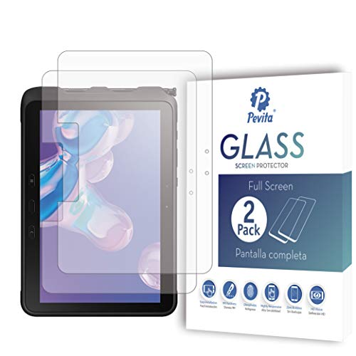 Pevita Protector de Pantalla compatible con Samsung Galaxy Tab Active Pro 10.1' [2 Packs] Cristal Templado para Samsung Galaxy Tab Active Pro 10.1'. Sin Burbujas, Fácil Instalación.