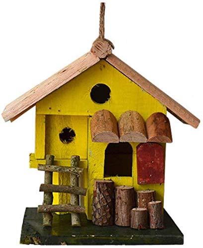BOC Naturgarten Vogelhaus Kreative Kirchturm Holz Vogelhaus Outdoor Hängende Dekoration Englisch Hofgarten Cottages Vogelhaus für kleine Vogelhütte Vogelhaus Country...