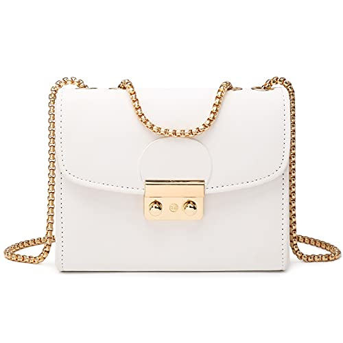 Dasein Women's Push Lock Evening Bags Wedding Purses Cocktail Prom Handbags Party Clutch Crossbody bag with Chain Strap