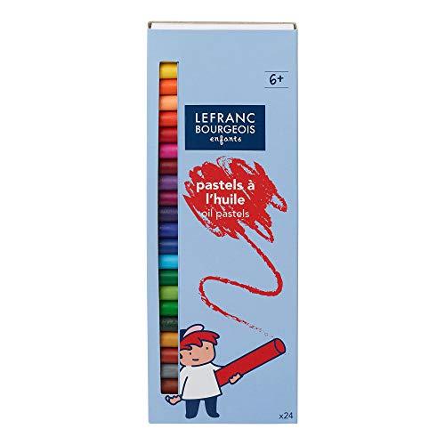 Lefranc Bourgeois - Pastels à l'huile pour enfants - Boîte de 24 x 8mm