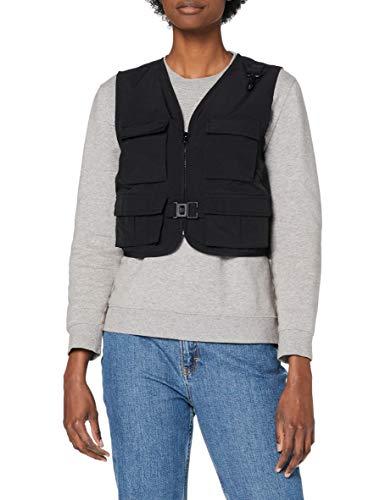 Urban Classics Damen Ladies Short Tactical Vest Jacke, Black, XS