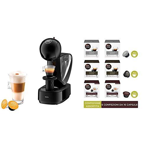 NESCAFÉ DOLCE GUSTO INFINISSIMA KP1708K Macchina per caffè espresso e altre bevande manuale Black Krups + Capsule assortite di caffè intenso