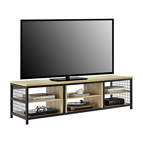 """Ameriwood Home Brookspoint TV Stand for TVs up to 75"""", Golden Oak"""