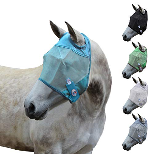 Derby Originals UV-Blocker Reflective Safety Horse Fly Mask Without Ears or Nose Cover, Available in Multiple Sizes and Colors