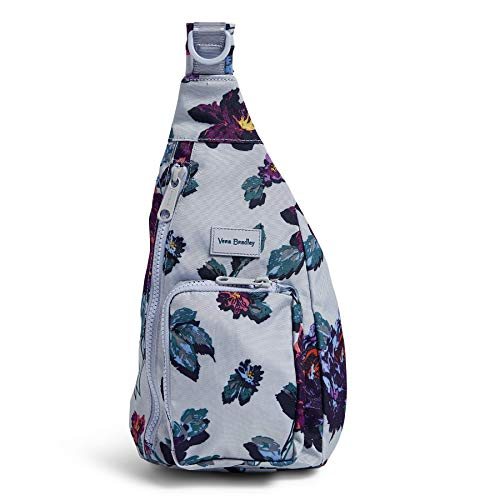 Vera Bradley Recycled Lighten Up Reactive Mini Sling Backpack, Neon Ivy