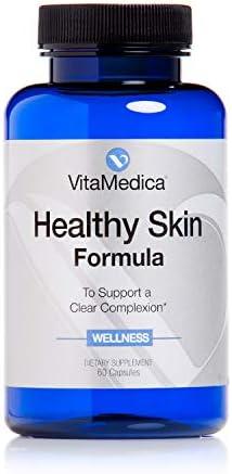 VitaMedica Healthy Skin Vitamin Formula for Acne W Vitamins A C E Plus Zinc Cleansing Herbs product image